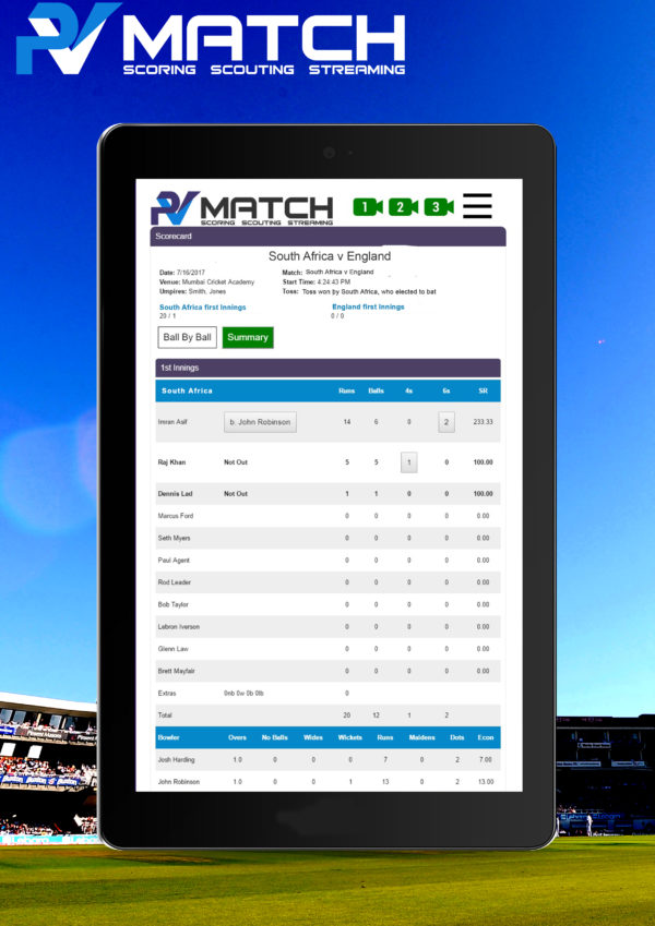 cricket scoring solution